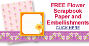 free flower art scrapbook paper, borders and journaling cards