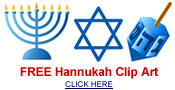 Free Hanukkah cards and clip art