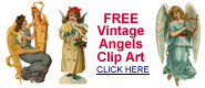 free vintage Christmas angel clip art
