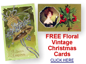 Floral vintage Christmas cards