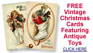 antique toy vintage Christmas cards