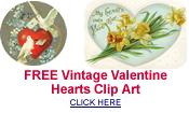 free vintage Valentine hearts clip art