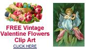 free vintage Valentine flowers clip art