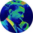 Barack Obama pensive