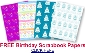 free birthday scrapbook paper designs