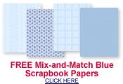 free blue scrapbook paper
