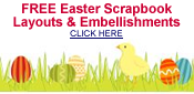 free Easter scrapbook embellishments and layouts