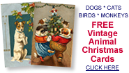 free vintage animal Christmas cards