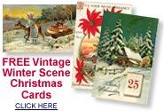 vintage winter scene Christmas cards