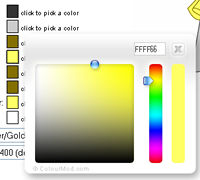 Web graphics color picker