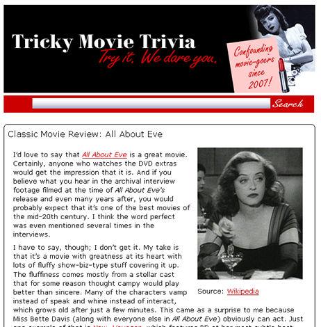 Tricky Movie Trivia